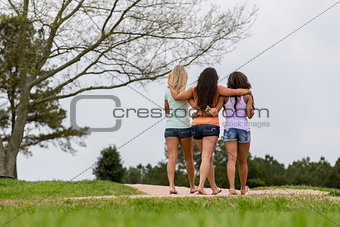 3 Girls Enjoying The Park