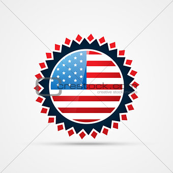 american independence day badge vector