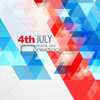 abstract style 4th of july