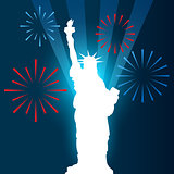 statue of liberty shullouette