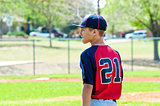 Baseball teen boy