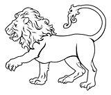 Stylised Lion illustration