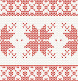 seamless knitted pattern with christmas ornament