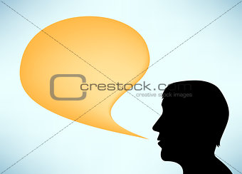 Abstract speaker silhouette man