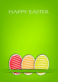 Easter card with green background
