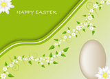 Easter card with spring motive