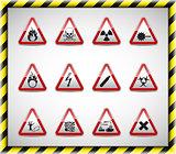 Triangel red danger sign