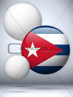 Cuba Flag Glossy Button