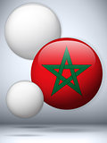 Morocco Flag Glossy Button