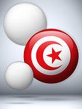 Tunisia Flag Glossy Button