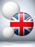 United Kingdom Flag Glossy Button