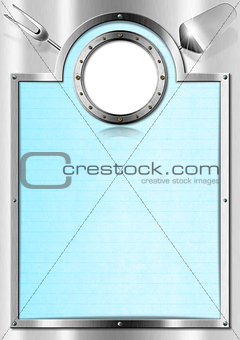 Metal Menu with Porthole