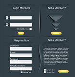 Login and register web screens