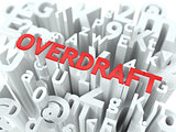 Overdraft. The Wordcloud Concept.