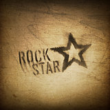 Rock star grunge background