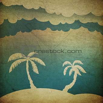 Summer travel concept background