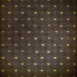 Retro grunge hearts background.