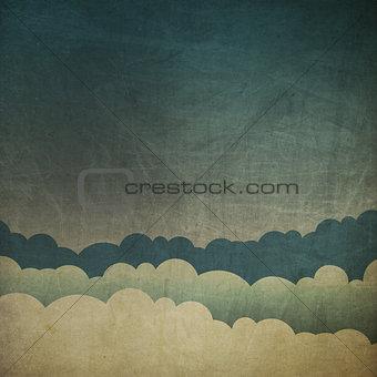 Vintage grunge sky background.
