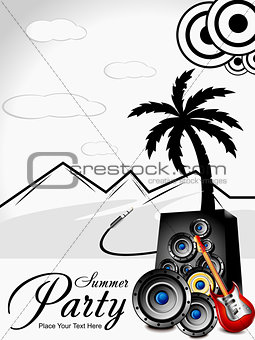 abstract musical summer background