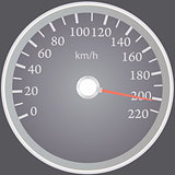 Realistic speedometer