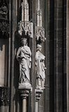 Detail from the facade of Cologne cathedral