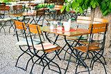 bavarian beer garden