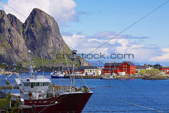 Fishing port in Norway