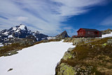 Norwegian mountain hut