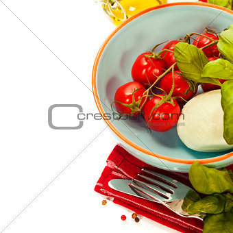 Caprese - Italian salad with tomatos and mozarella cheese