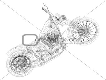 Sketch concept motorcycle