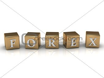 Forex inscription in gold cubes