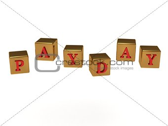 Payday inscription red letters