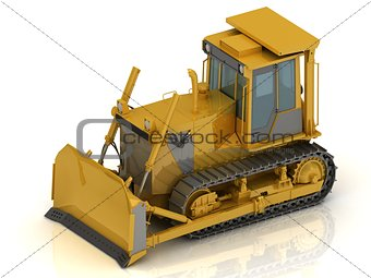 Powerful yellow crawler