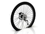 Studded wheel of a sports bike