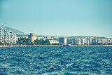 Main view on Thessaloniki City embankment, Greece
