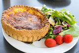 Quiche Lorraine Pastry with Salad