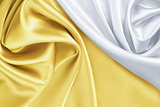 gold and white silk background