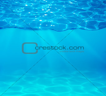 pool water with sparkles on surface