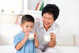 Drink milk together