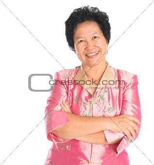 Asian senior woman.