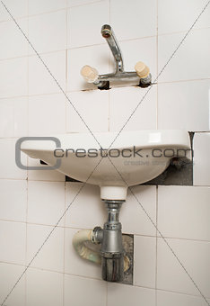 Sink and pipes