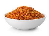 Saffron in plate