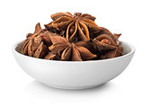 Star anise in plate