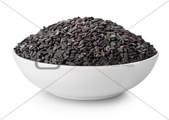 Black sesame in plate