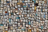 Mosaic Texture of little stone wall (close-up)