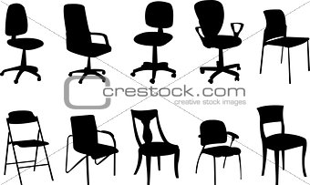 Chairs silhouette collection