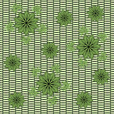 Decorative flowers on grid background