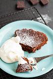 Slice of chcolate cake