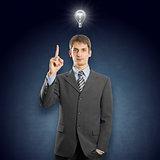 Idea Concept businessman in suit