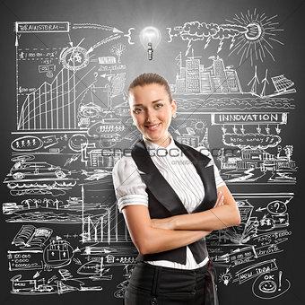 Idea Concept Business Woman